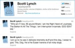 author Scott Lynch on the relentless fervor of his dog